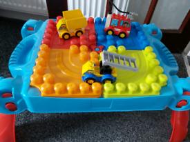 Lego duplo table & vechicle duplo lego set included