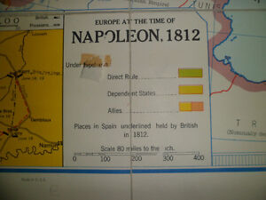 Folding Wall Map (Napoleonic Wars) Kitchener / Waterloo Kitchener Area image 3