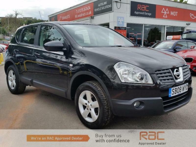 nissan qashqai acenta 2008 petrol manual in black in portishead bristol gumtree. Black Bedroom Furniture Sets. Home Design Ideas