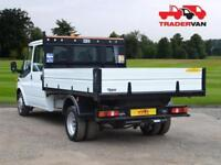 16 FORD TRANSIT 2.2 TDCI 350 125ps Long Wheel Base Double Cab Tipper DIESEL MA