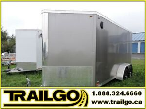 2019 Remorque 7x17  Aluminium / Enclosed Aluminum Trailer