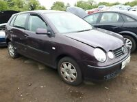 2002 VOLKSWAGEN POLO SE FSI NOW BREAKING FOR PARTS