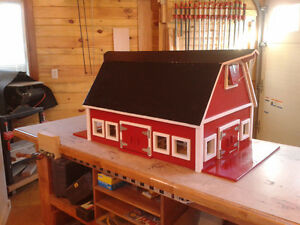 Hand made toy barn