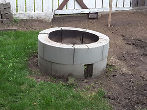 Concrete Fire Pit Blocks Edmonton Edmonton Area image 1