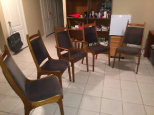5 Danish Teak Dining Chairs (Mint Condition)