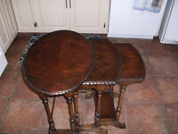 WOODEN NESTING TABLES  set of 3