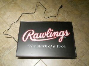 Rawlings The Mark of a Pro Light Up Plug in Sign