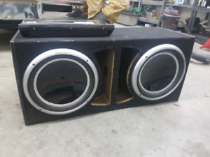 2 12 inch Rockford fosgate subs with 1200w amp