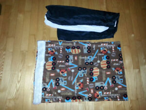 Polar Fleece Pillowcase with Trucks and Black Bedskirt for Sale!