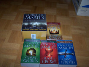 GEORGE RR MARTIN - 4 bk boxed set - SONG OF ICE & FIRE