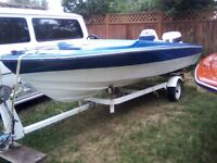 16.5 foot boat motor and trailer