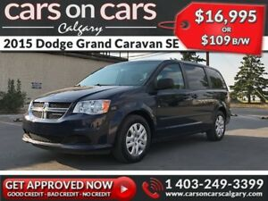2015 Dodge Grand Caravan SE Stow N Go w/$109 B/W INSTANT APPROVA