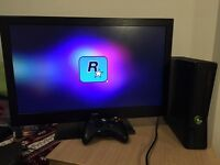 "Xbox 360 slim 250gb + Bush 1080p 24"" TV bundle"