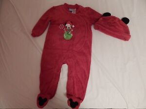 """""""Disnep"""" baby .Red Mickey Holiday  cloth with hat set ."""
