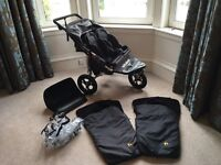 Out N About V3 Nipper Double Buggy with extras.