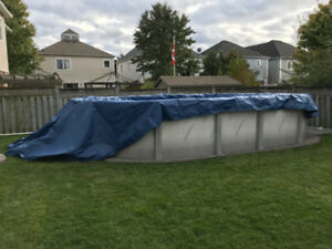16X32 Above Ground Pool Winter Cover