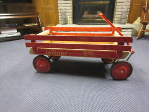 "VINTAGE ""JETLINER"" WOODEN RACK WAGON"