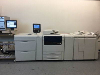 Xerox Color J75 Press Copier Printer Scanner With Exj75 Fiery 300gsm Duplex 152k