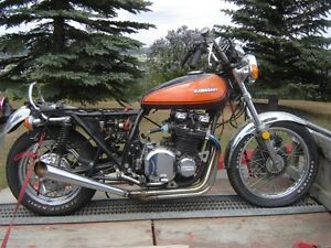1973 to 1975  Kaw KZ  900 COMPLET STOCK EXHAUSTS    WANTED