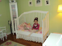 Crib,Toddler Bed, Full Size Bed - 3 in 1
