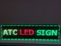 3-COLOUR LED SCROLL PROGRAMMABLE SIGN 53(L)''*15(H)'' OUTDOOR