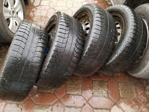 set of Michelin X-Ice 225/50R17 with Accord Rims
