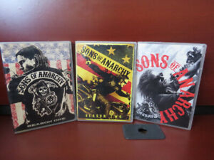 Sons of Anarchy Seasons 1 2 and 3 dvd