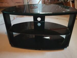 GLASS TV STAND $50.00 obo