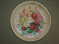 For Sale:Hand Painted Ceramic Plate of Country Garden Style