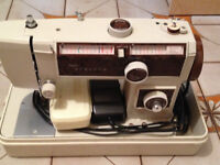 Vintage Janome Sewing Machine early 70's sold as is