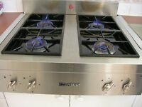 Stainless steel Heartland 30 inch Legacy Cooktop