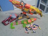 3 nerf guns and bullets