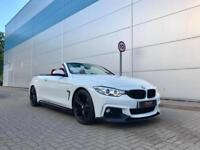 2015 64 reg BMW 420d M Sport Convertible White + RED Leather + M Performance Kit