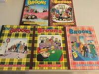 The Broons Annuals in near mint condition 21 in total