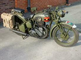 BSA WM20 500cc 64 CORP MILITARY BIKE WITH ONLY 250 MILES FROM NEW