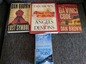 Jeffrey Archer and Dan Brown collection books - as new