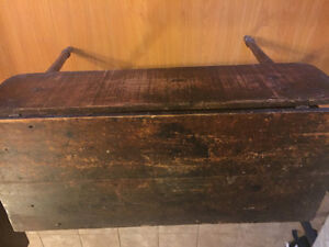 Rustic antique table and 2 chair combo for sale