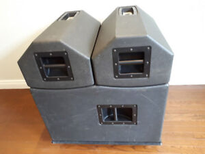 Complete Band PA System - Up To 400 People - Powered Speaker Sub