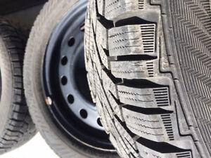LIKE NEW 205/55 R16 Gislaved Winter Tires on Rims