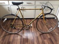 VINTAGE YELLOW PUCH ROAD RACING BIKE IDEAL STUDENT COMMUTER BICYCLE PUNCTURE PROOF TYRES RETRO