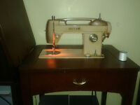 White sewing machine for sale