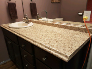 Bathroom countertop,sink and taps