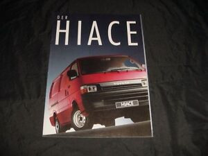 Toyota Hiace prospekt/brochure 1990 - <span itemprop='availableAtOrFrom'>Czestochowa, Polska</span> - Toyota Hiace prospekt/brochure 1990 - Czestochowa, Polska