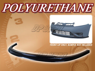 FOR 06-08 HONDA CIVIC 2 DOOR COUPE V STYLE FRONT BUMPER LIP SPOILER BODY KIT PU Civic Coupe Body Kit