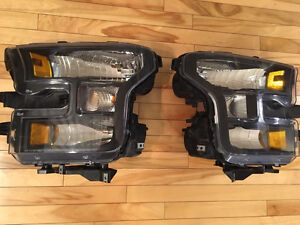 Ford F150 dark blackened headlights