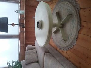 Round painted antique coffee table for sale