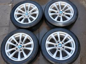 "GENUINE ORIGINAL BMW 3 series 17"" ALLOY WHEELS AND TYRES"