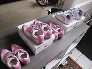Geox, Girls Shoes sz 9 & 10 (white/lilac),10, 13 & 1 (pink)REDUC