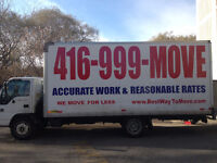 Mississauga Movers for less! No hidden fees (416)999-6683
