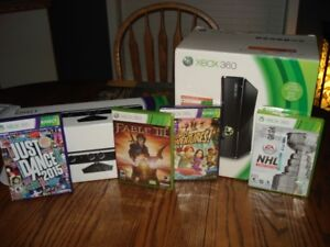 XBOX 360 with 4 games